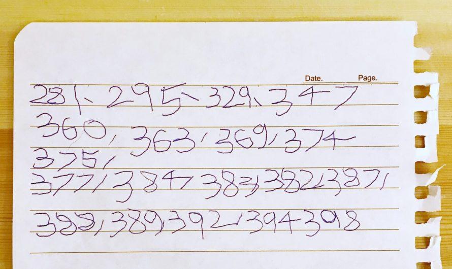 猜猜這一堆數字代表甚麼?