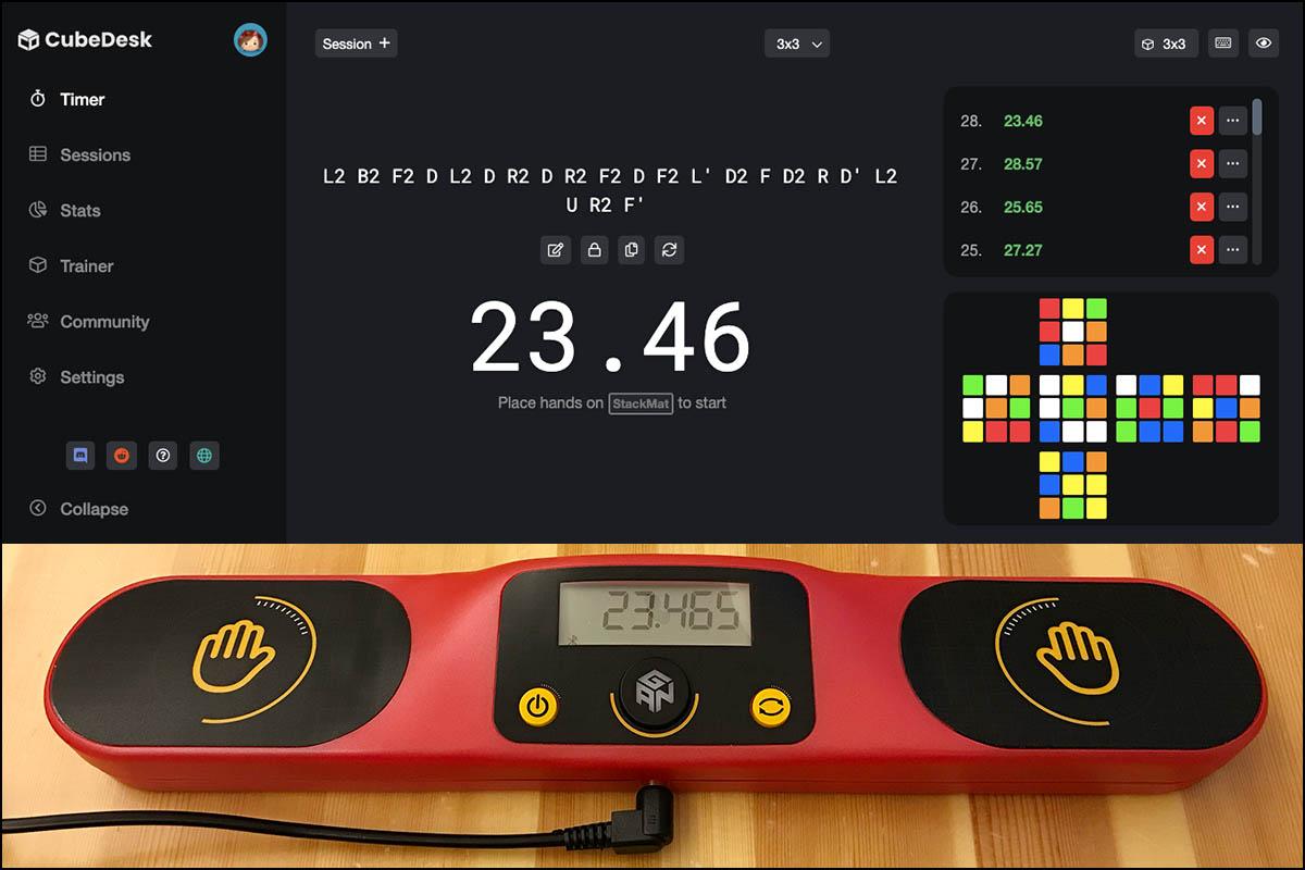 CubeDesk連動GAN計時器
