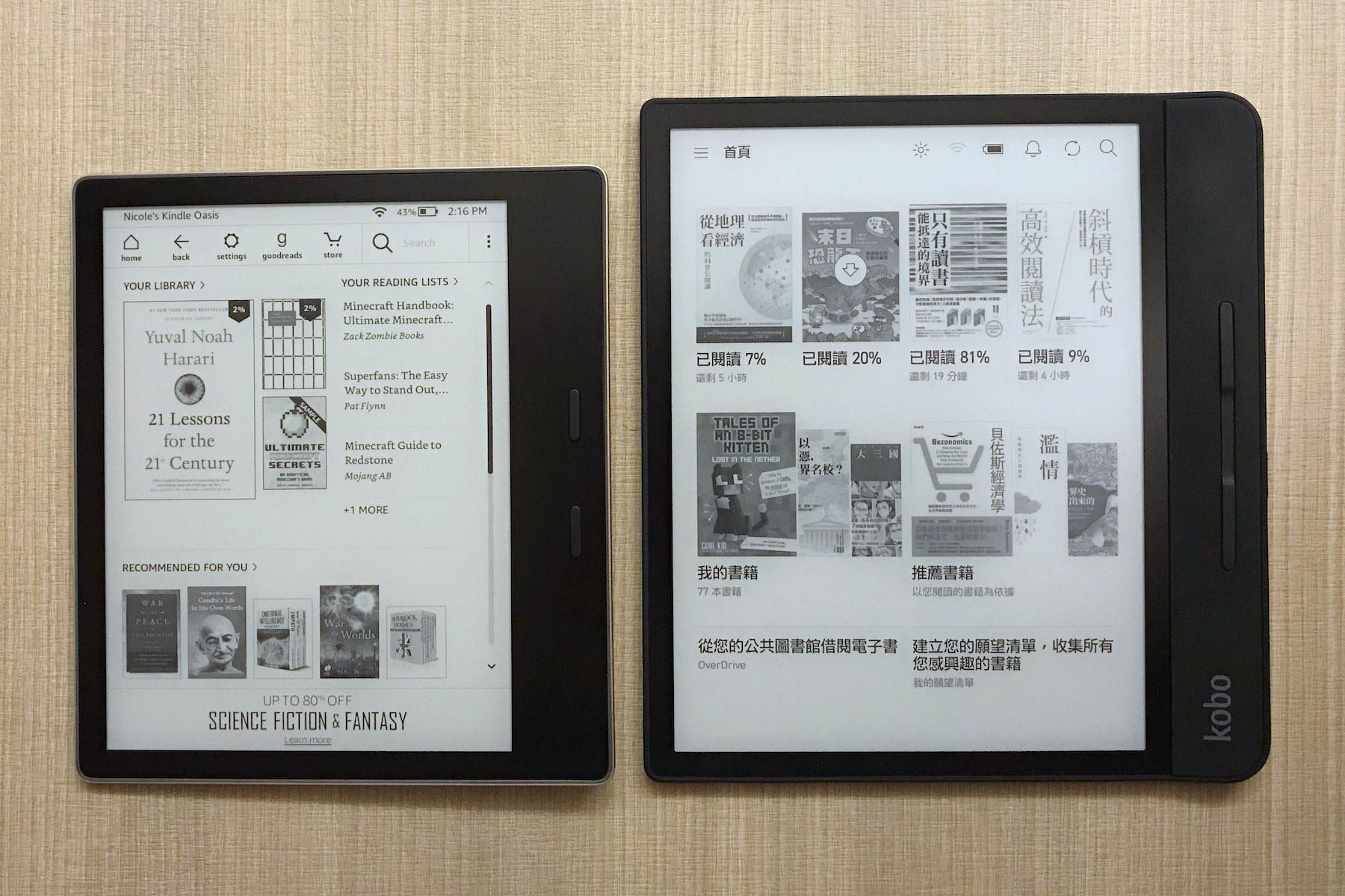 有了 Kindle Oasis 2 為何還要買 Kobo Forma?